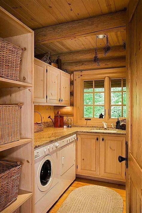 Kitchen Counter Storage Ideas - rustic laundry room home sweet home pinterest