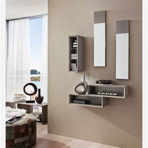 mobili ingressi moderni ingresso con specchiera e mensole pr603 emporio3