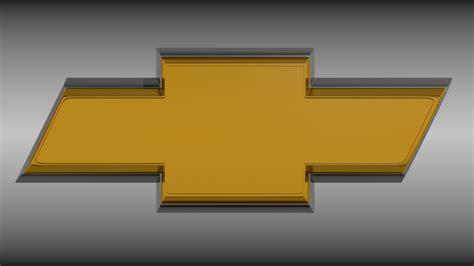 logo chevrolet 3d chevrolet logo 3d model obj blend cgtrader com