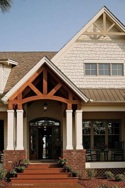 open gable entry porch pictures country house plans craftsman style homes house  porch