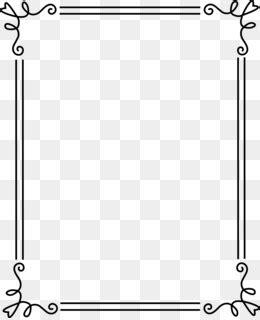 borders  frames black  white clip art elegant page