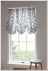 In an instant no sew window treatment in my own style for Pull up curtains how to make