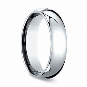 comfort fit men39s wedding ring in white gold 6mm With mens wedding rings white gold comfort fit