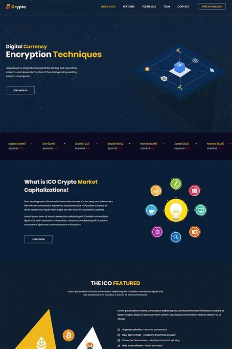 Bitcoin cryptocurrency responsive website template. whait is bitcoin #bitcoininvestingforbeginners | Bitcoin, Website template, School newsletter ...