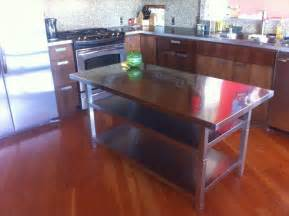 kitchen island with stainless top stainless steel kitchen island cart ikea hackers ikea hackers