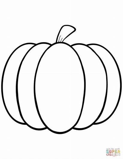 Coloring Pumpkin Pages Simple Printable Drawing Crafts