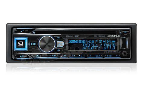 alpine cde dab sintolettore cd tuner bluetooth dab autorad rg sound store