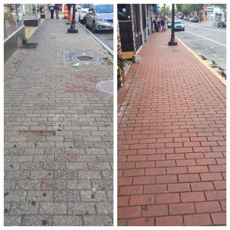 clay pavers vs concrete pavers before after faded concrete pavers versus authentic natural clay pavers by pine hall brick