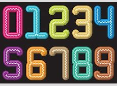 Colorful Slinky number Download Free Vector Art, Stock