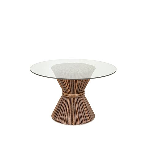 glass table base rustic dining table or base only la lune collection