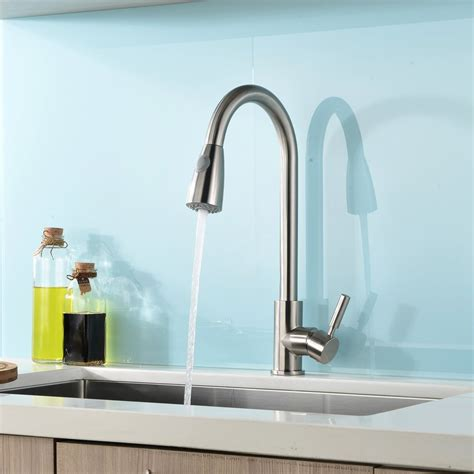 Kitchen Sink Faucet by Concordia Brushed Nickel Single Handle Kitchen Sink Faucet