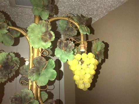 3 Vintage Czech Glass Beaded Grape Shade Cluster Fruit