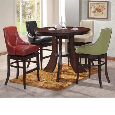 Bar Height Dining Room Table Sets Dreamfurniture Com Vinson Bar Height Dining Table Set
