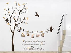 Motive Für Babyzimmer : wandtattoo baum mit fotorahmen und sprichwort von ~ Michelbontemps.com Haus und Dekorationen
