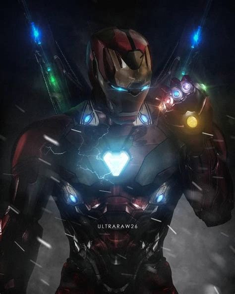 gorgeous avengers  fan art sees iron man wield