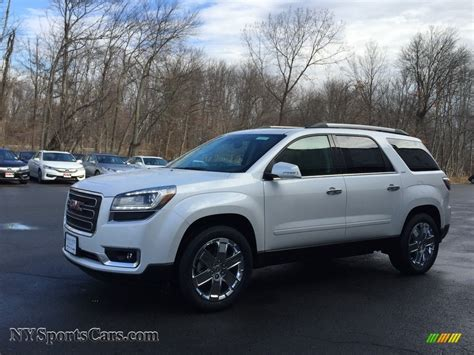 gmc acadia limited awd  white frost tricoat
