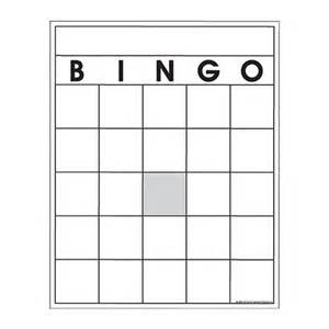Printable Blank Bingo Cards 8 X 11