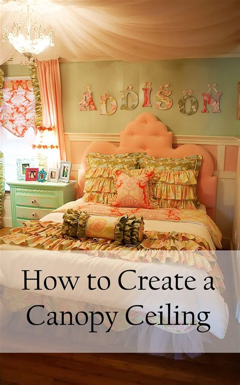 How To Drape A Ceiling With Fabric - how to create a canopy ceiling s