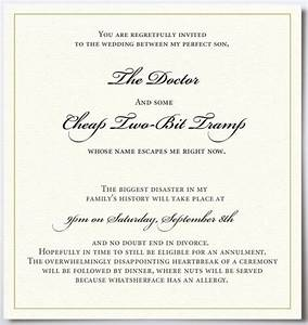 Funny wedding invitations wedding39s style for Some funny wedding invitations