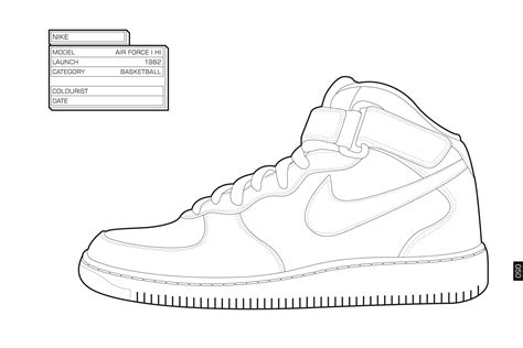 Coloring Nike Air 1 by Nike Coloring Pages Coloring Home