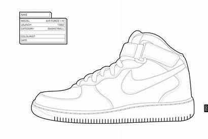 Coloring Nike Air Force Sneaker Jordan Drawing