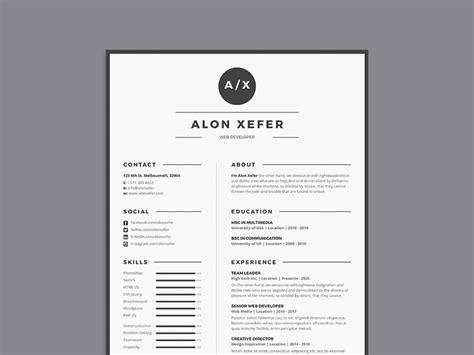 modern elegant resume template  multiple format