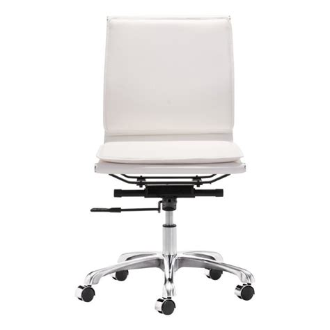 zuo lider plus modern leatherette armless office chair in