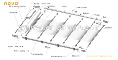 Motorized Curtain Tracks China by China Novo Roof Skylight Indoor Door Roller Blinds