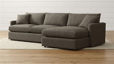 lounge ii shallow sectional sofa crate and barrel