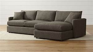 Lounge ii shallow sectional sofa crate and barrel for Lounge ii 2 piece sectional sofa