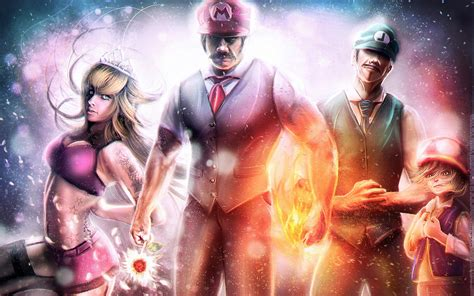 Video Games Super Mario Luigi Realistic Princess Peach