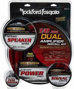 Rockford Fosgate Rfk1d Dual Amp 1  0 Wiring Kit