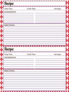 printable kids cookbook mesas place full page