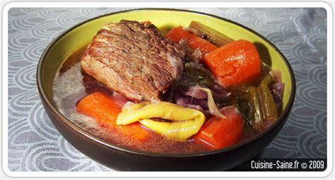 cuisine simple et saine recette d hiver pot au feu cuisine saine sans gluten sans lait