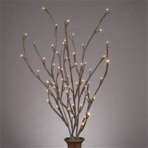 everlasting glow led 39 quot electric brown wrapped lighted faux branch 72 clear rice