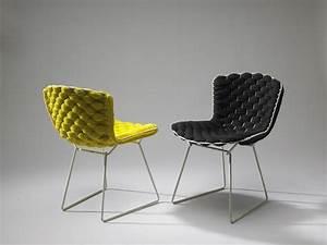 Chaise Velours Design : meuble design nouveau look pour la chaise bertoia ~ Teatrodelosmanantiales.com Idées de Décoration