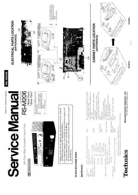 Technics Rsm206  Service Manual Immediate Download