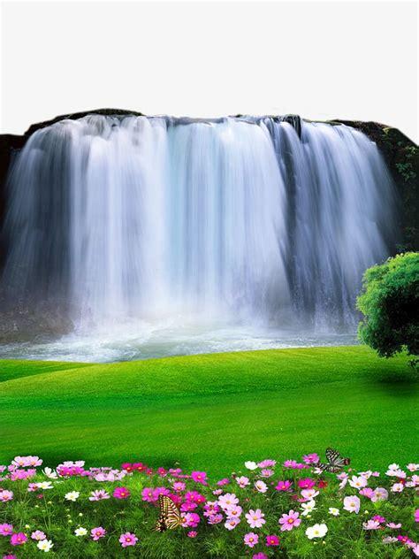waterfall landscape material waterfall beautiful