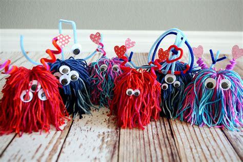 lil love monster kids craft    fun valentine