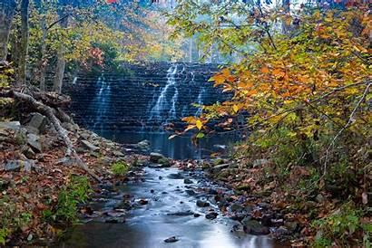 Pool Gunner Fall Campground Scene Dam Creek