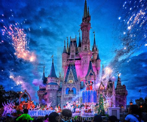 walt disney world christmas holidays  show  front