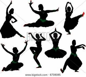 Indian Dancer Silhouette Image - cg6p708085c