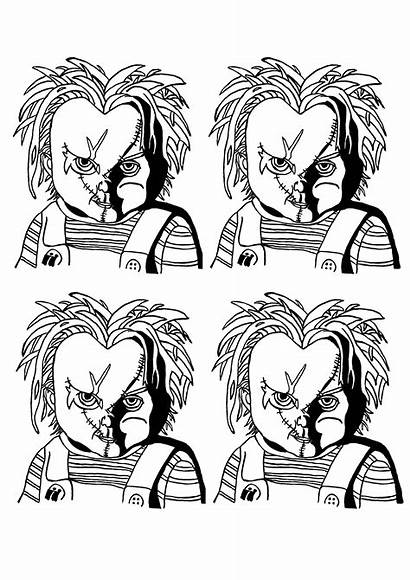 Halloween Coloring Chucky Coloriage Warhol Adult Portrait