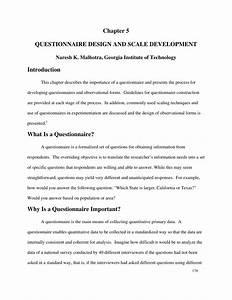 (PDF) Questionnaire design and scale development