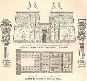EDFU diagram and plan -| ANCIENT EGYPTIAN TEMPLES - World ...