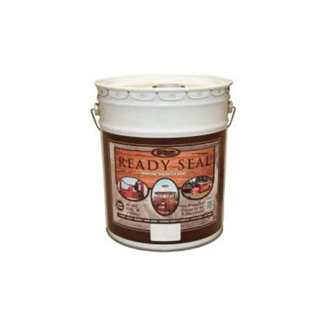 ready seal 5 gal walnut exterior wood stain and