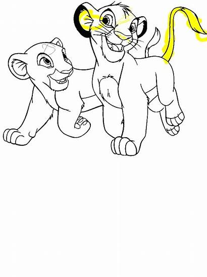 Simba Lion King Coloring Girlfriend Lionking Pages