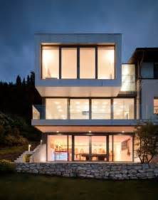 three storey house three storey extension to a lakeside house featuring an