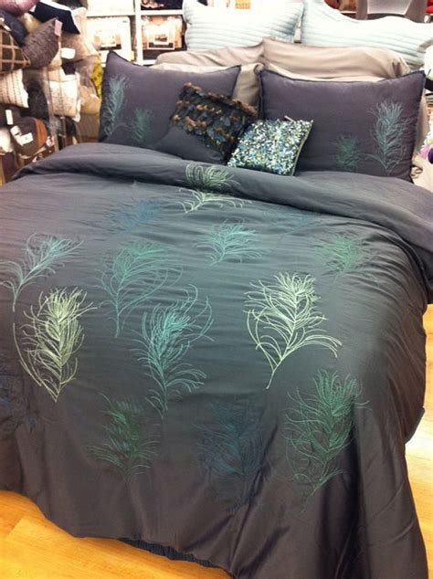nicole miller feathers queen comforter set miller feathers comforter set cal king blue peacock feather pillows nip ebay