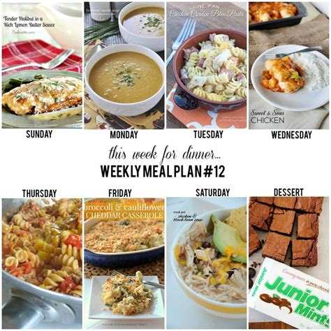 home dinner ideas weekly menu plan 12 i heart nap time